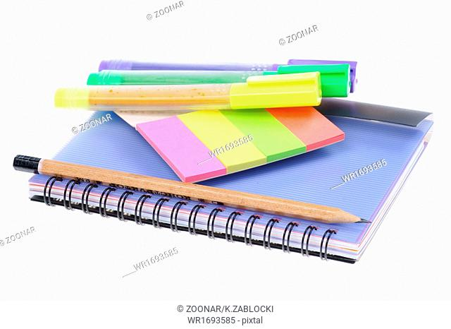 back to school, close-up, school supplies