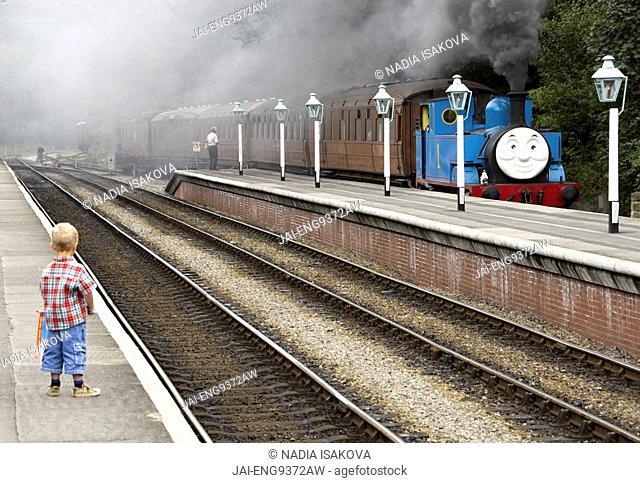 Thomas the Tank Engine, Grosmont, North Yorkshire, England, UK