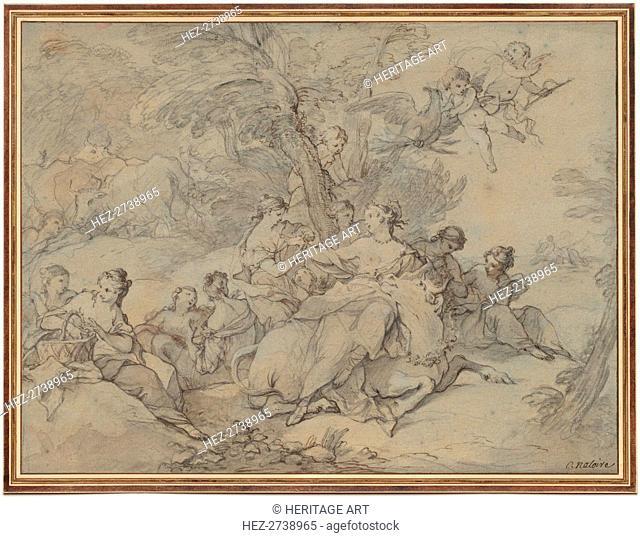 Rape of Europa, 1731. Creator: Charles Joseph Natoire (French, 1700-1777)