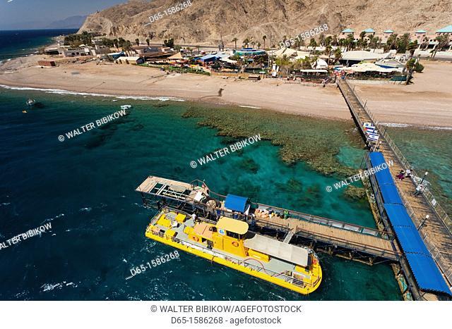 Israel, The Negev, Eilat, Red Sea, Underwater Marine Park, tourist boat