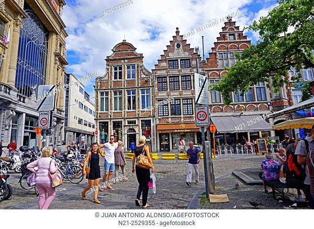 Vrijdagmarkt, Ghent, Belgium, Europe