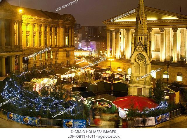 England, West Midlands, Birmingham, Birmingham's annual Frankfurt Christmas Market and Craft Fair in Chamberlain Square in Birmingham City Centre