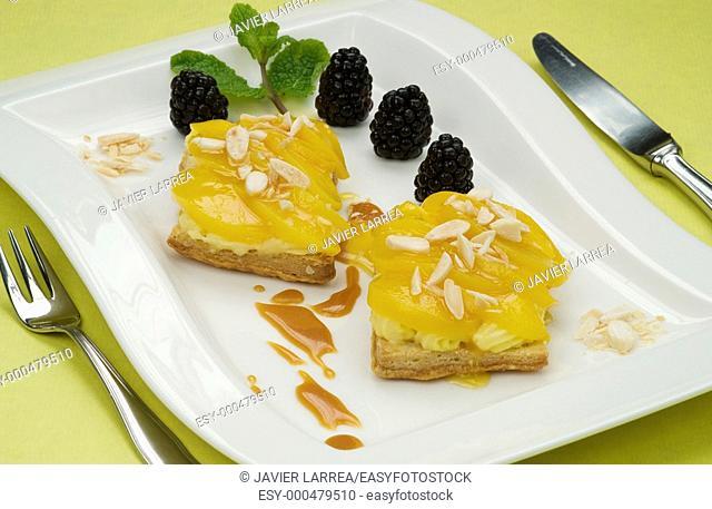 Apricot pies, special diabetic plate, Cooking School Luis Irizar, Donostia, San Sebastian, Gipuzkoa, Euskadi