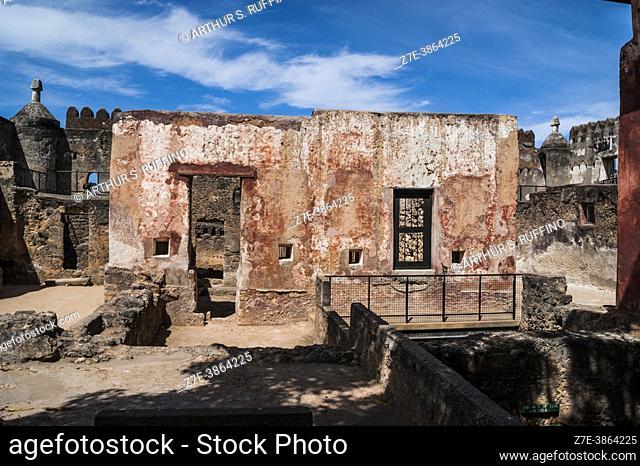 Inside Fort Jesus. Mombasa, Kenya, Africa