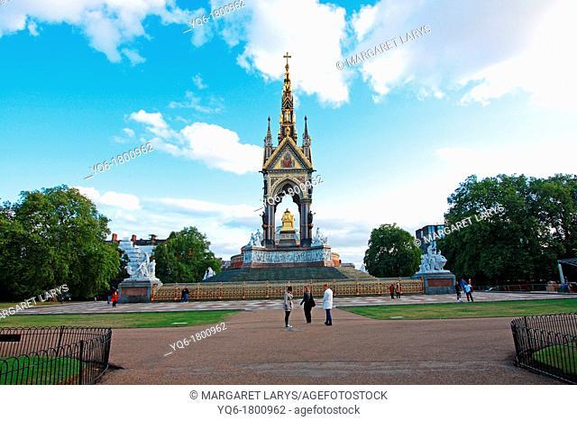The Albert Memorial, Kensington Gardens, London, England