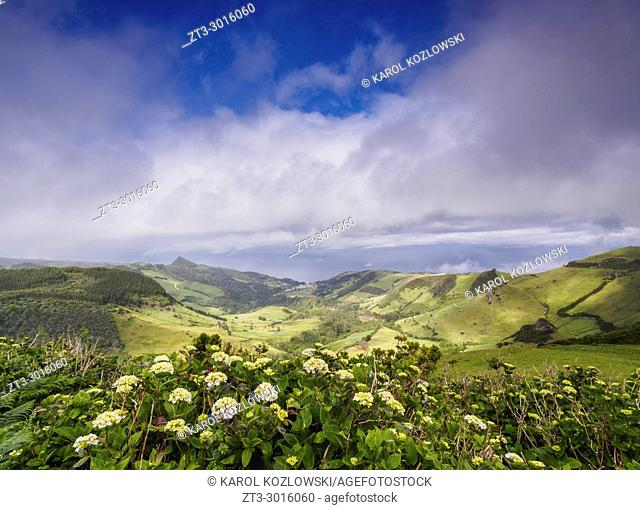 Landscape of Flores Island, Azores, Portugal