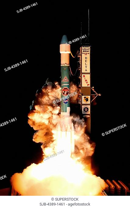 Launch of Spitzer Space Telescope