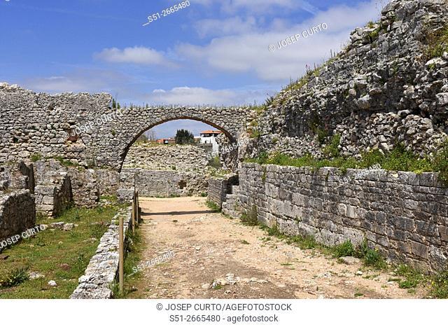 Roman ruins of the ancient city of Conímbriga (aqueduct) ,Beiras region, Portugal