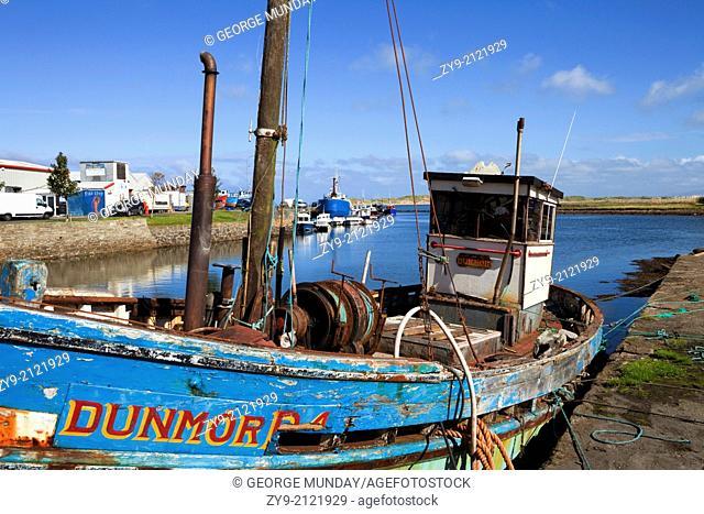 The Fishing Harbour in Killala, County Mayo, Ireland
