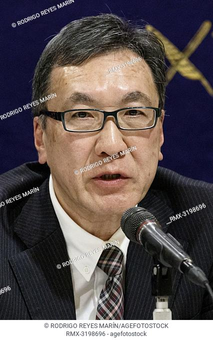 December 18, 2018, Tokyo, Japan - Masaru Sasaki former Vice President of Tokyo Metropolitan Health and Medical Treatment Corporation speaks during a news...