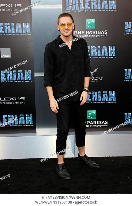 World premiere of 'Valerian and the City of a Thousand Planets' at the TCL Chinese Theatre - Arrivals Featuring: Kendall Schmidt Where: Los Angeles, California
