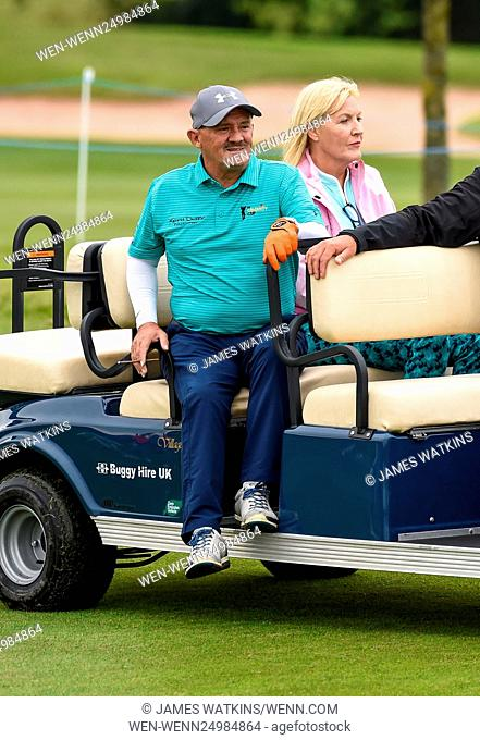 The Celebrity Cup 2016 at Celtic Manor, Wales Featuring: Brendan O'Carroll, Jennifer Gibny Where: Wales, United Kingdom When: 09 Jul 2016 Credit: James...
