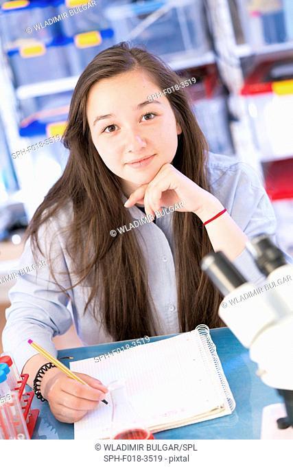 Science student, portrait