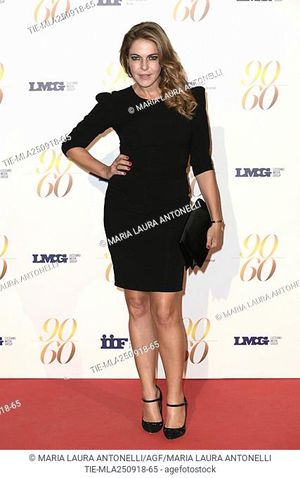 Claudia Gerini during red carpet of 60/90 party, for 60 years of career and ninetieth birthday of Fulvio Lucisano, Italian Film Producer