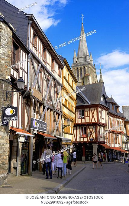 Vannes, City, Old Town and medieval houses, Morbihan, Bretagne, Brittany, France, Europe.