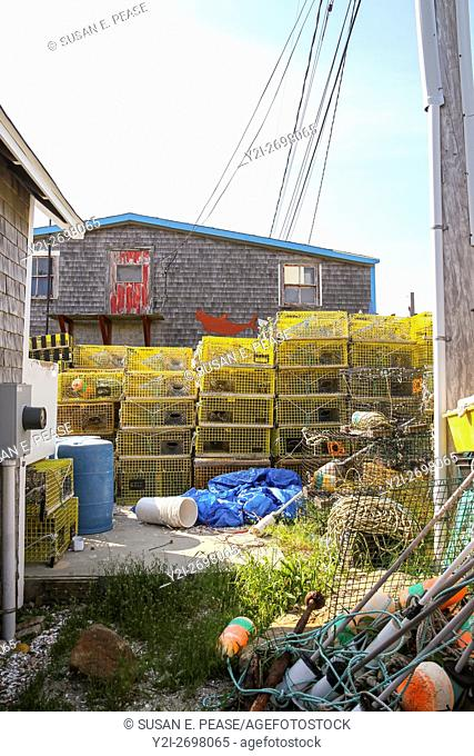 Tools of the trade in the fishing village of Menemsha, town of Chilmark, Martha's Vineyard, Massachusetts, United States, North America