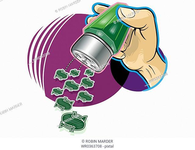 Sprinkling Dollar Signs