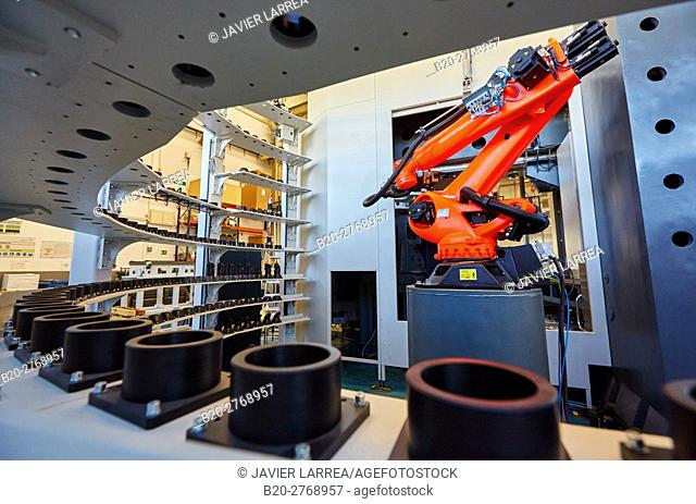 Robot, Tools magazine, Machining Centre, CNC, Vertical lathe, Design, manufacture and installation of machine tools, Gipuzkoa, Basque Country, Spain, Europe