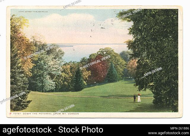 Down the Potomac, Mt. Vernon, Va. Detroit Publishing Company postcards 70000 Series. Date Issued: 1898 - 1931 Place: Detroit Publisher: Detroit Publishing...