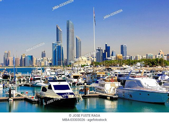 View at the skyline of Abu Dhabi