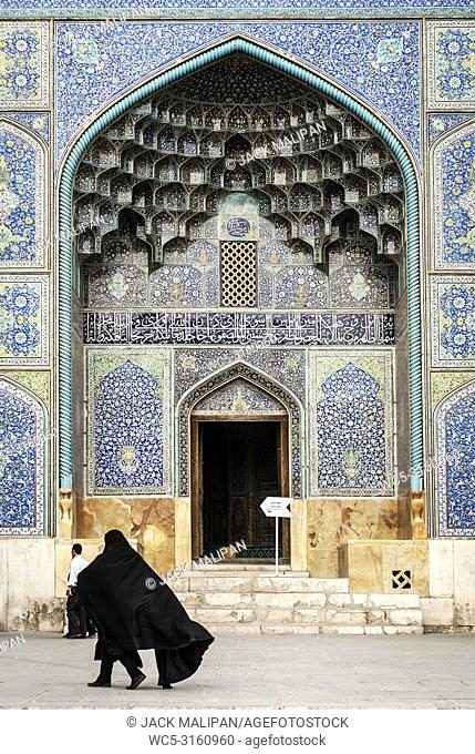 the shah mosque famous landmark on Naqsh-e Jahan Square in isfahan city iran