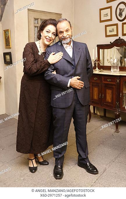 Maria Bouzas and Ramon Ibarra in El Secreto de Puente Viejo set filming on June 08, 2017 in Madrid, Spain. (Photo by Angel Manzano).