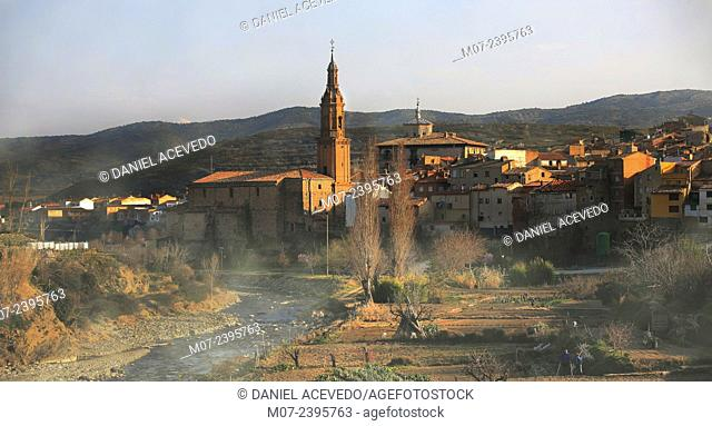 Igea village, Linares valley, Biosphere reserve, La Rioja baja region, Spain, Europe