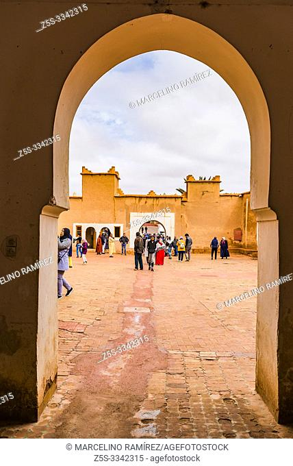 Mud brick Kasbah of Taourirt. Ouarzazate, Drâa-Tafilalet, Morocco, North Africa