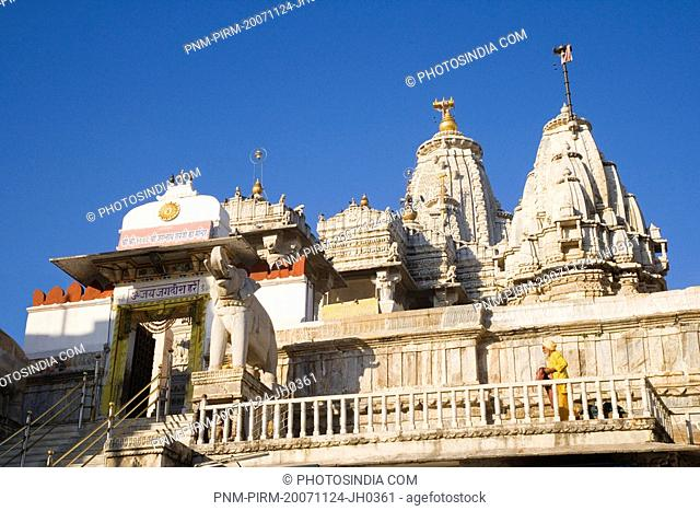Low angle view of a temple, Jagdish Temple, City Palace, Udaipur, Rajasthan, India