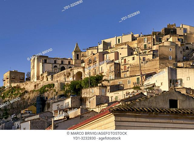 View of the old town of Ragusa Ibla Sicily Italy