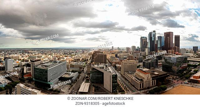 Panorama skyline of downtown Los Angeles, California
