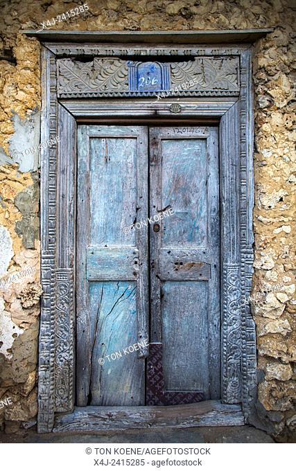 wooden doors in Zanzibar