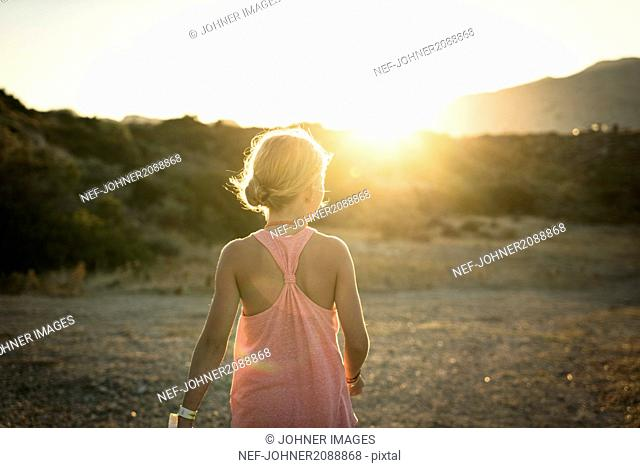 Girl at dusk