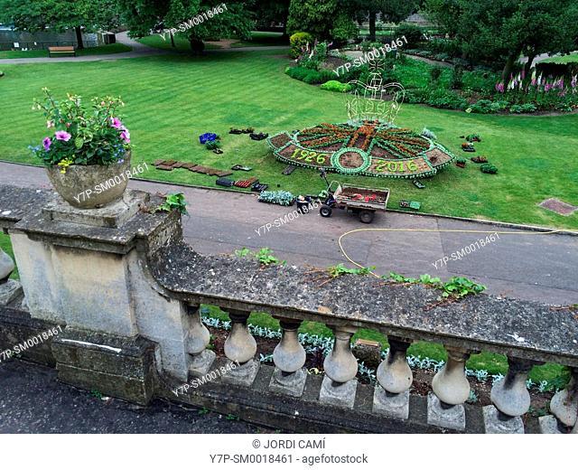 Parade Gardens,Bath. Somerset. England. United Kingdom