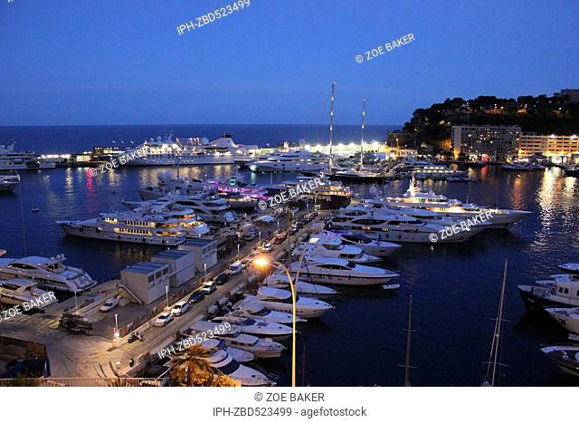 Monaco Port Hercule at eventide. Zoe Baker