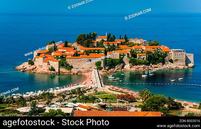 Sveti Stefan, island resort- morning light