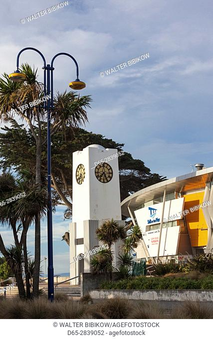 New Zealand, South Island, Christchurch-New Brighton, library and clocktower