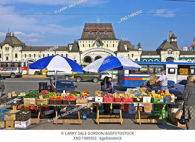 Main Train Station - Farmer's Market. Vladivostok. Russia