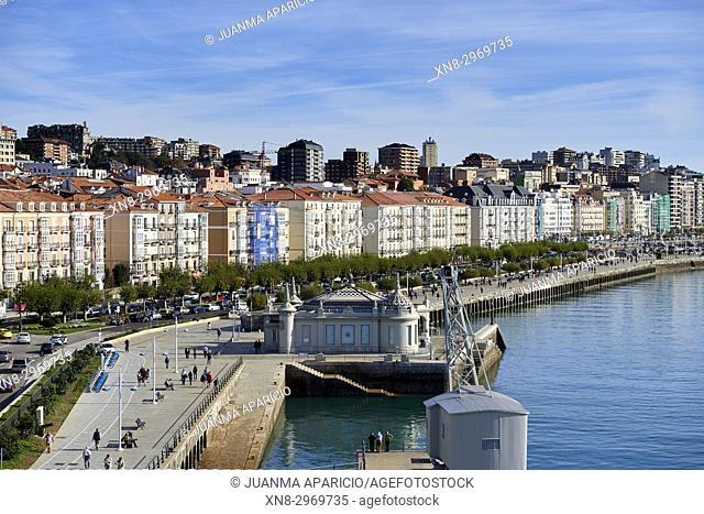 Paseo de Pereda, Santander, Cantabria, Spain, Europe