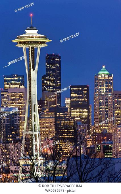 Space Needle and Downtown Seattle Skyline