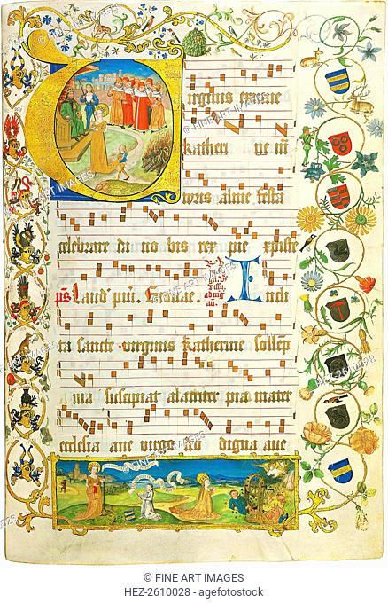 Leaf from Antiphonary for Elisabeth von Gemmingen, c. 1504. Artist: Anonymous