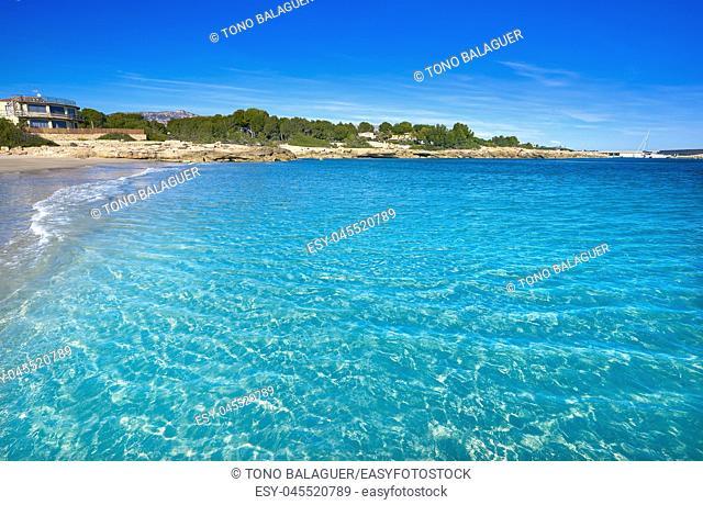 Ametlla de mar Cala Sant Jordi beach in Costa dorada of Tarragona Catalonia L'ametlla