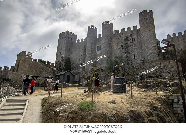 Obidos castle, now Hotel Pousada, Obidos, Leiria distric, Portugal, Europe