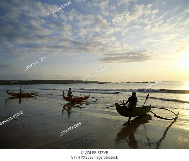 Bali, Asia, Beach, Boats, Holiday, Indonesia, Kuta, Landmark, Outrigger, Sunset, Tourism, Travel, Vacation