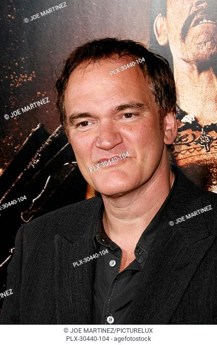 Quentin Tarantino at the Special Screening Premiere of 20th Century Fox's Machete. Arrivals held at the Orpheum Theatre in Los Angeles, CA, August 25, 2010