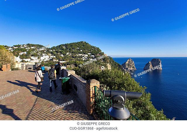 Faraglioni, Capri island, Campania, Italy, Europe
