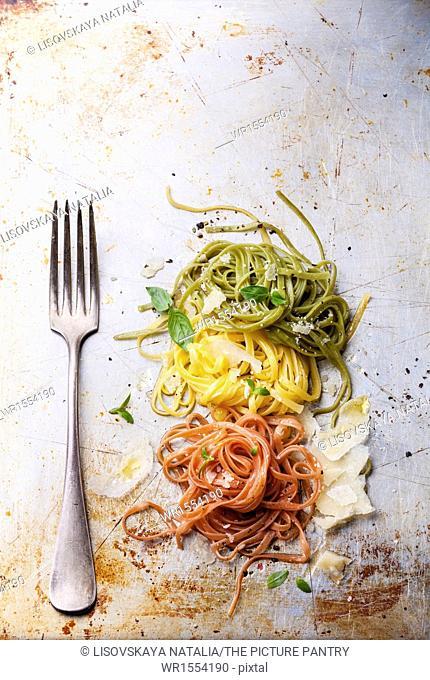 Italian pasta Italian flag colors