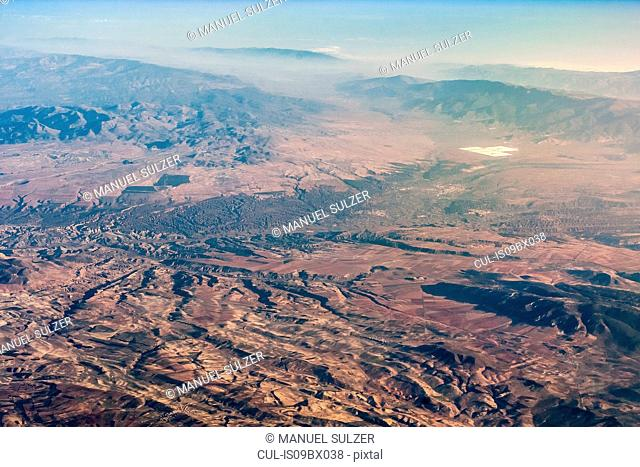 Mountain landscape, aerial view, Rif, Morocco