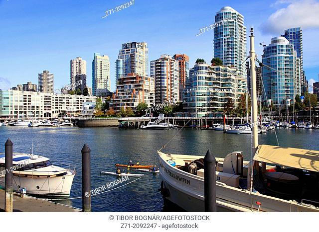 Canada, Vancouver, skyline, False Creek, Granville Island,
