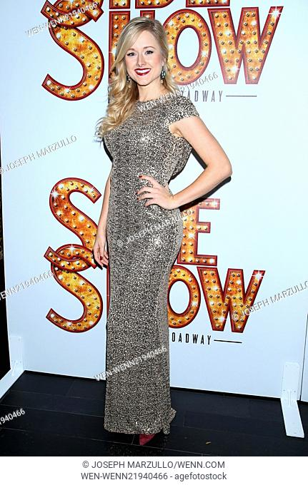 Opening night after party for Broadway's Side Show, held at TAO - Arrivals. Featuring: Delaney Westfall Where: New York, New York